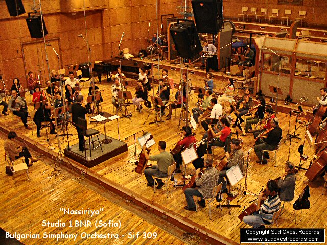 Nassirya, recording in Sofia with the Bulgarian Simphony Orchestra.